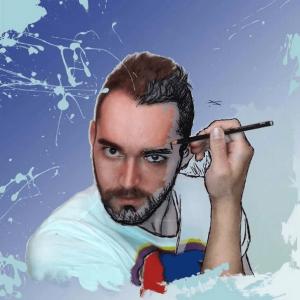 Joaquin delgado autoretrato. joaquindel popart